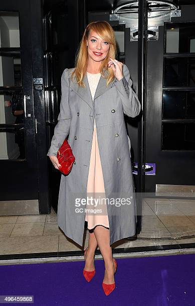 Liz McClarnon leaves the British Take Away Awards on November 9 2015 in London England