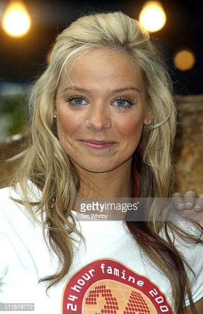 Liz McClarnon of Atomic Kitten during Atomic Kitten's Jenny and Liz Promote World Vision's 24Hour Famine Youth Fundraiser at Soho in London Great...