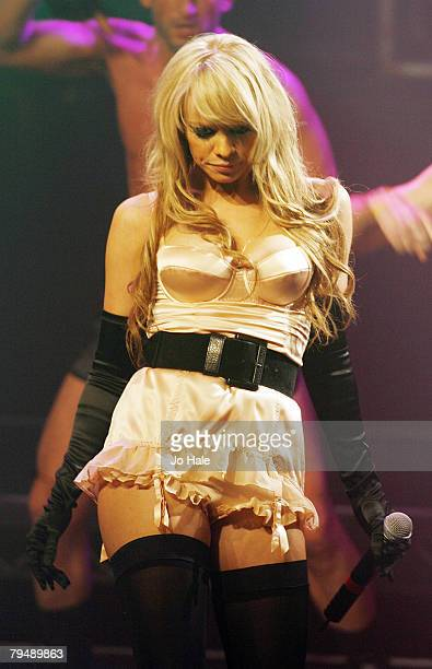 Liz McClarnon of Atomic Kitten performs at G-A-Y Astoria,on February 02, 2008 in London.