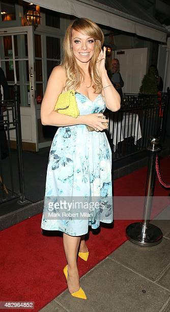 Liz McClarnon outside the Ok Magazine summer party on August 4 2015 in London England