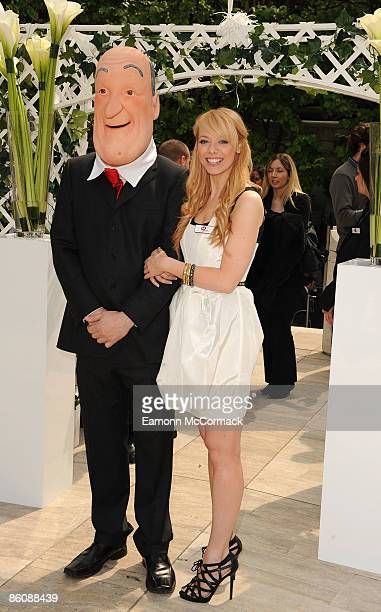 Liz McClarnon relaunches the internet search engine Jeeves to Ask Jeeves at Broadgate Circle on April 21 2009 in London England