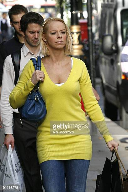 Liz McClarnon Sighted shopping at Dolce Gabbana on September 24 2009 in London England