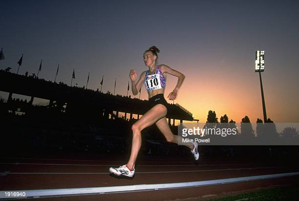 Liz McColgan of Great Britain in action during the 5000 Metres event at the IAAF Nice Grand Prix in Nice France Mandatory Credit Mike Powell/Allsport