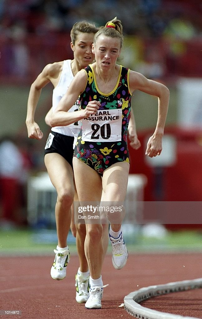Liz McColgan of Great Britain in action during the Womens 3000 metres event of the UK Championships at Leckwith Road Stadium in Cardiff, Wales. McColgan finished in first place. \ Mandatory Credit: Dan Smith/Allsport