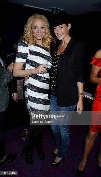 Liz Mclarnon Claire Merry at a showing of Mark Heyes new book at the Sanctum Hotel on March 30 2010 London England
