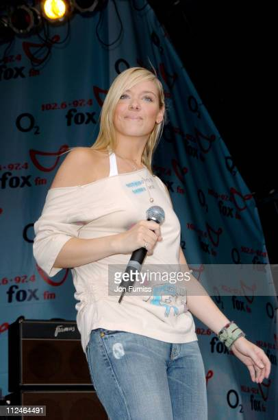 Liz McLarnon during FOX FM's Party In The Park with O2 Music Stage at South Park in Oxford United Kingdom