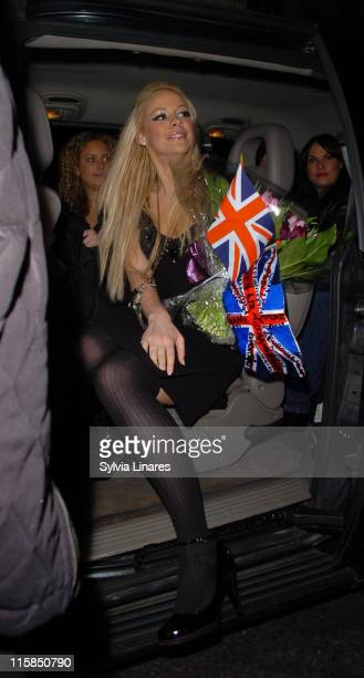 Liz McLarnon during Hilary Duff Liz McLarnon and Duncan James Sighting at Astoria in London March 10 2007 at Astoria in London Great Britain