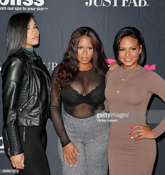Liz Milian, Danielle Milian and Christina Milian attend Star Magazine's Scene Stealers party at W Hollywood on October 22, 2015 in Hollywood,...