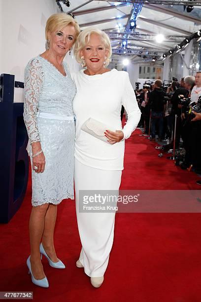 Liz Mohn and Angelika Milster attend the Bertelsmann Summer Party on June 18 2015 in Berlin Germany