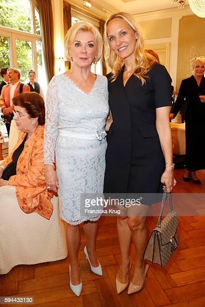 Liz Mohn and Anne MeyerMinnemann attend the Society Relations Ladies Lunch in favor of the Stiftung Deutsche SchlaganfallHilfe on August 23 2016 in...
