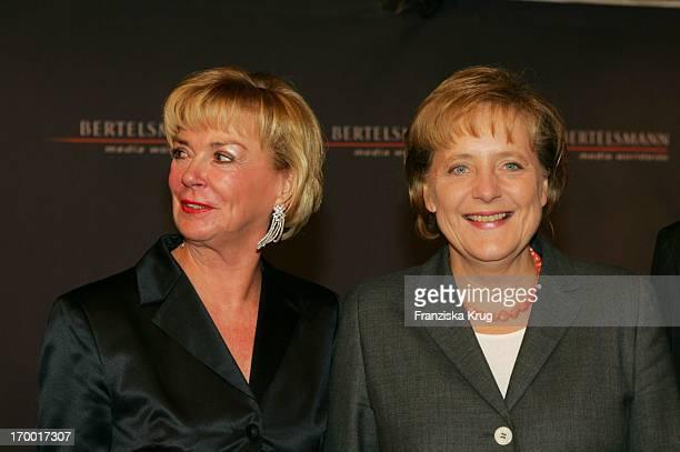 Liz Mohn and Dr Angela Merkel at The Party At Bertelsmann Bertelsmann Unter Den Linden in Berlin 280905