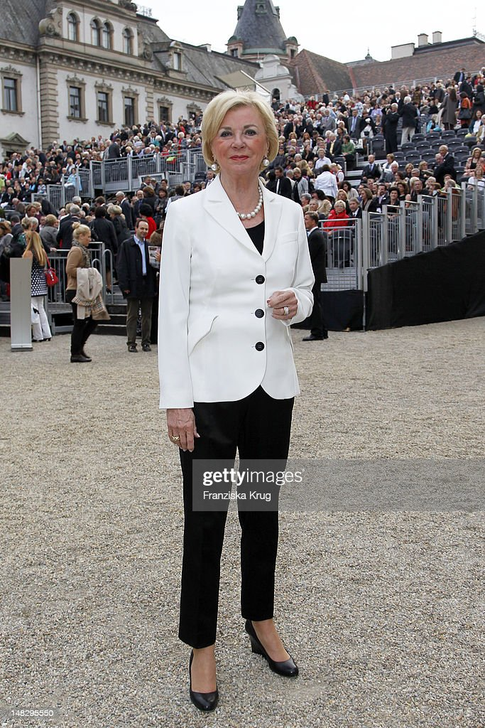 Liz Mohn attends the opera 'The Magic Flute' (Die Zauberfloete) at the Thurn & Taxis Castle Festival Opening on July 13, 2012 in Regensburg, Germany.