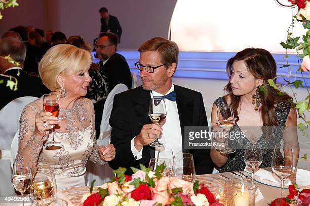 Liz Mohn Guido Westerwelle and Vicky Leandros attend the Rosenball 2014 on May 31 2014 in Berlin Germany
