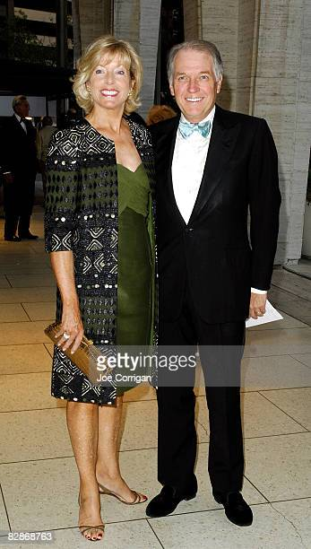 Liz Peek and CEO of the CIT Group Jeffrey Peek attend the opening night gala for the New York Philharmonic at Avery Fisher Hall on September 17 2008...