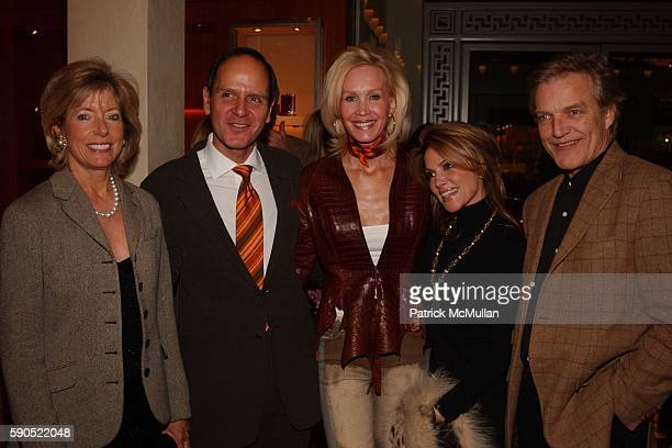 Liz Peek Robert Chavez Joanne de Guardiola Cindy Sites and Peter Martins at A kickoff for An Enchanted Evening a Gala for the School of American...