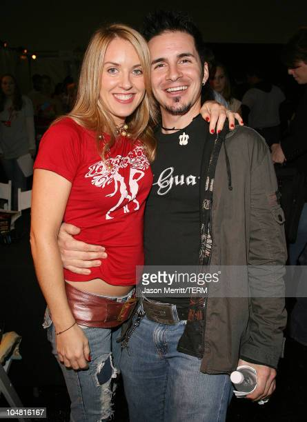 Liz Phair and Hal Sparks during VH1 Big in '05 Radio Forum at Sony Studios in Culver City California United States