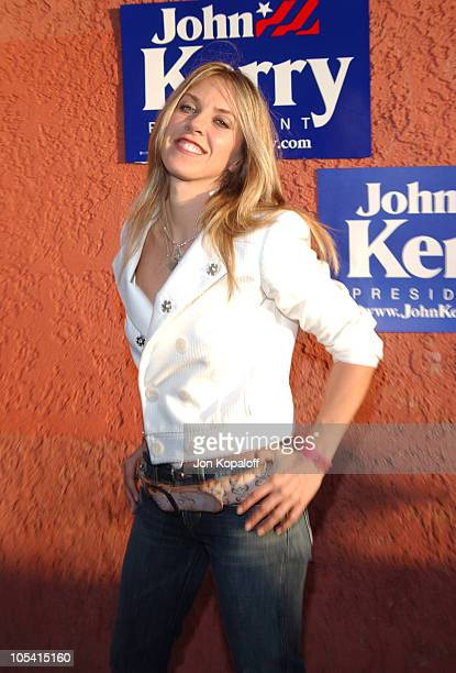 Liz Phair during Hollywood Gathers to Celebrate Presidential Candidate John Kerry Arrivals at The Music Box Henry Fonda Theater in Hollywood...