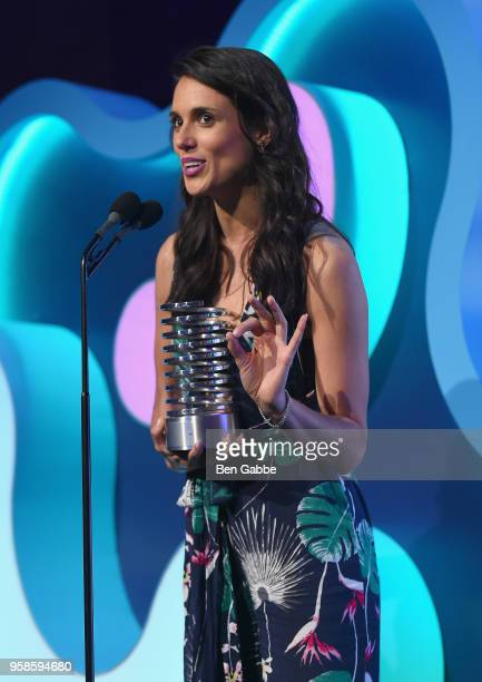 Liz Plank accepts award onstage at The 22nd Annual Webby Awards at Cipriani Wall Street on May 14 2018 in New York City