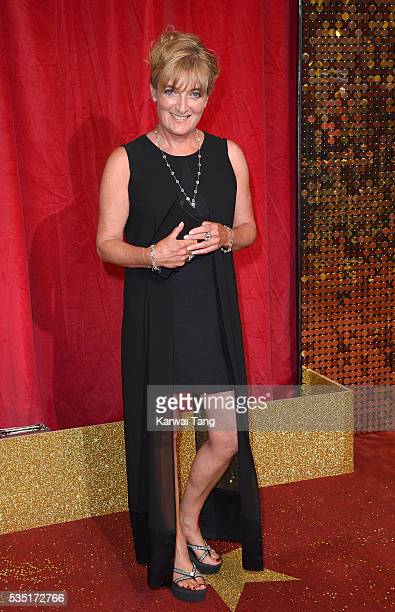 Liz Rider arrives for the British Soap Awards 2016 at the Hackney Town Hall Assembly Rooms on May 28 2016 in London England