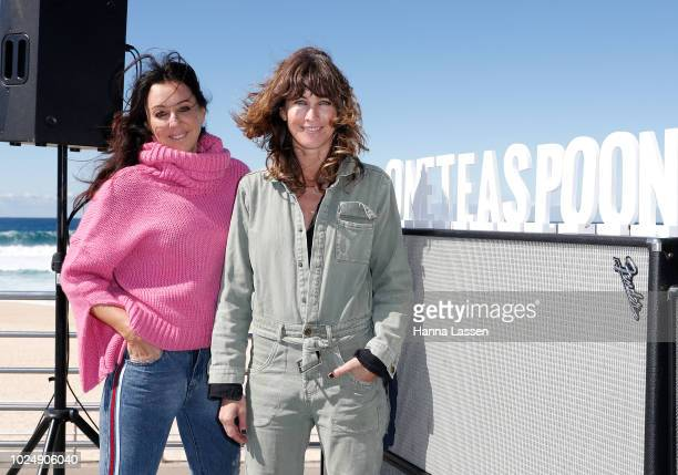 Liz Roberts and Jamie Blakey pose at the OneTeaspoon Fashion Launch on August 29 2018 in Sydney Australia