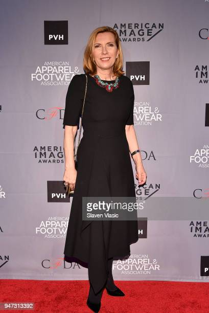 Liz Rodbell President Lord Taylor attends American Apparel Footwear Association's 40th Annual American Image Awards 2018 on April 16 2018 in New York...