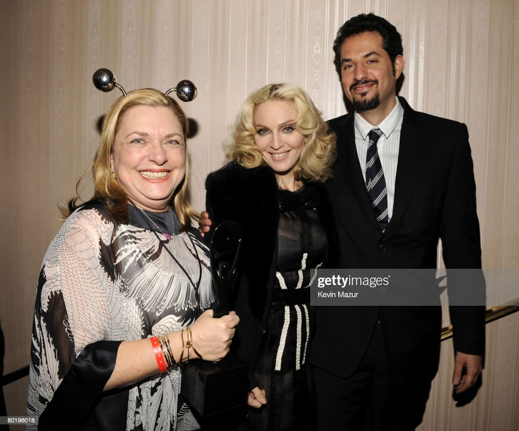 Liz Rosenberg, Musician Madonna and Guy Oseary backstage at the 23rd Annual Rock and Roll Hall of Fame Induction Ceremony at the Waldorf Astoria on March 10, 2008 in New York City. *EXCLUSIVE*
