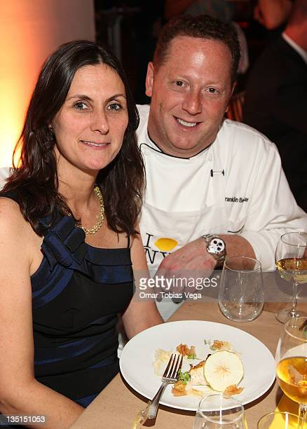Liz Scott and Chef Franklin Becker attend Lemon NYC A Culinary Event to Fight Childhood Cancer at Industria Superstudio on December 6 2011 in New...