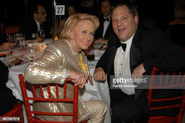 Liz Smith and Harvey Weinstein attend Literacy Partners 'An Evening of Readings' Honoring Verizon at New York State Theater Lincoln Center on May 5...