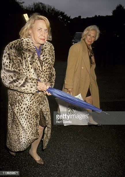 Liz Smith and Iris Love during Funeral For Steve Ross at Guild Hall in New York City New York United States