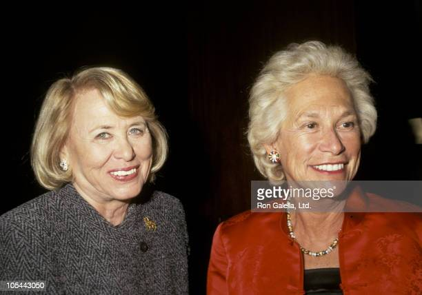 Liz Smith and Iris Love during 'Letters For Literacy' Auction Benefit at Sotheby's in New York City New York United States