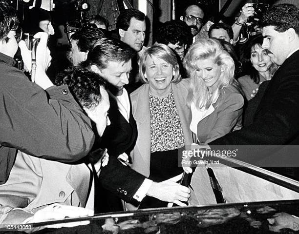 Liz Smith and Ivana Trump during Luncehon Celebrating Ivana Trump's 41st Birthday at La Grenouille in New York City New York United States