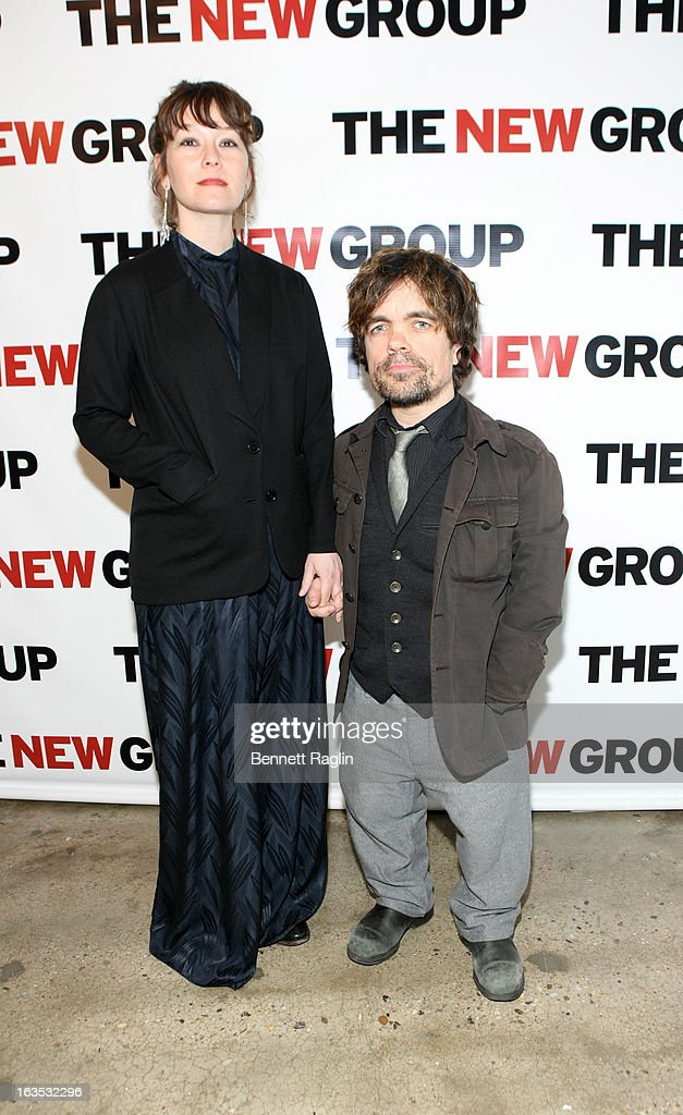 Liz Smith and Peter Dinklage attend The New Group Bright Lights Off-Broadway 2013 Gala at Tribeca Rooftop on March 11, 2013 in New York City.