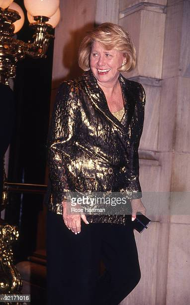 Liz Smith attends the wedding of Marla Maples and Donald Trump at the Waldorf Astoria New York 1993