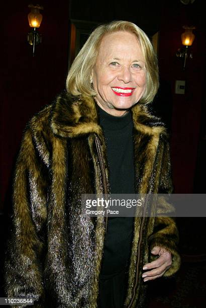 Liz Smith during 'The Phantom of the Opera' New York Premiere Inside Arrivals at Ziegfield Theater in New York City New York United States