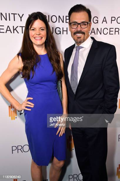 Liz Storm and Dr Richard G Pestell attend CytoDyn's Pro 140 Awareness Event for HIV and Cancer Prevention at The Roosevelt Hotel in Hollywood on...