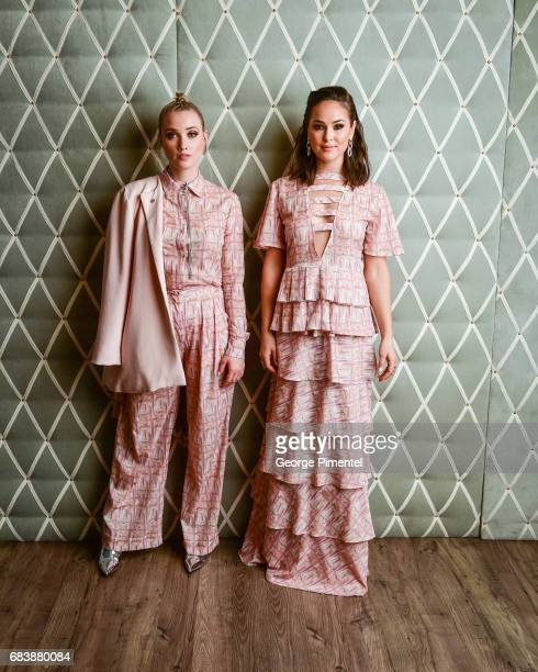 Liz Trinnear and Chloe Wild pose in the 2017 Canadian Arts And Fashion Awards Portrait Studio at the Fairmont Royal York Hotel on April 7 2017 in...