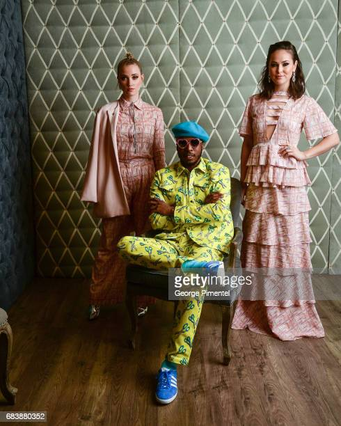 Liz Trinnear Brian A Richards and Chloe Wild pose in the 2017 Canadian Arts And Fashion Awards Portrait Studio at the Fairmont Royal York Hotel on...
