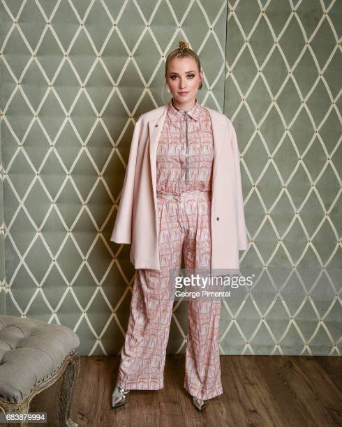 Liz Trinnear poses in the 2017 Canadian Arts And Fashion Awards Portrait Studio at the Fairmont Royal York Hotel on April 7 2017 in Toronto Canada