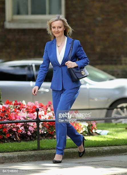 Liz Truss arrives at Downing Street where she is appointed as Justice Secretary as Prime Minister Theresa May continues to appoint her cabinet on...