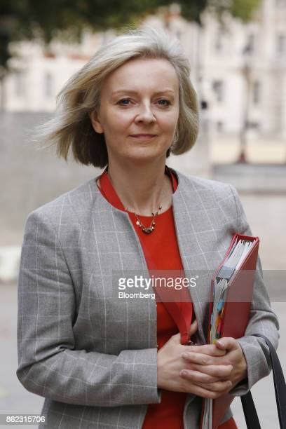 Liz Truss chief secretary to the UK Treasury departs following a cabinet meeting at number 10 Downing Street in London UK on Tuesday Oct 17 2017 UK...