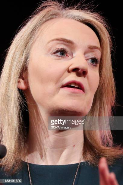 Liz Truss MP Chief Secretary to the Treasury is seen speaking during the Annual Conference British Chambers of Commerce Annual Conference brings...