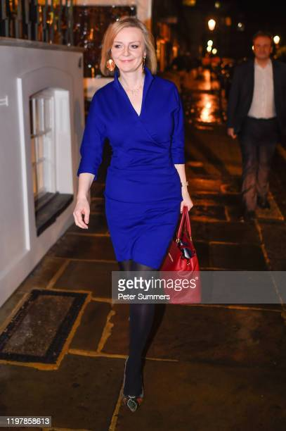 Liz Truss Secretary of State for International Trade arrives at a Brexit celebration party on January 31 2020 in London England The UK left the...