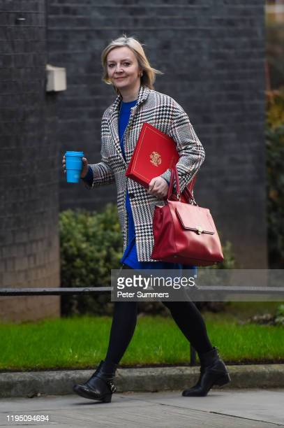 Liz Truss Secretary of State for International Trade arrives at Downing Street on January 21 2020 in London England In just over one week's time the...