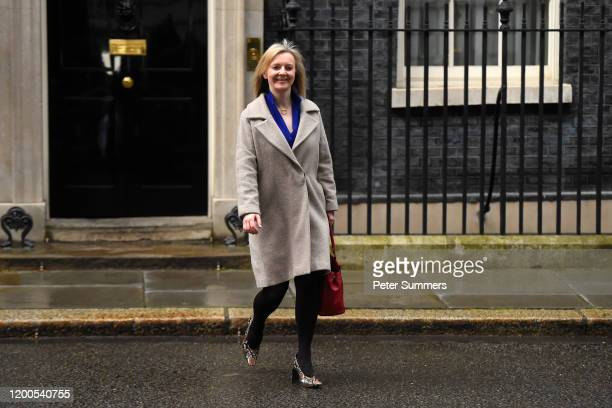 Liz Truss Secretary of State for International Trade leaves 10 Downing Street on February 13 2020 in London England The Prime Minister makes...