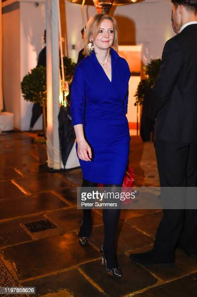 Liz Truss Secretary of State for International Trade leaves a Brexit celebration party on January 31 2020 in London England The UK left the European...