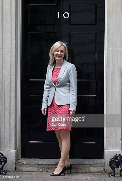 Liz Truss the Secretary of State for Environment Food and Rural Affairs arrives at Downing Street on May 11 2015 in London England Prime Minister...