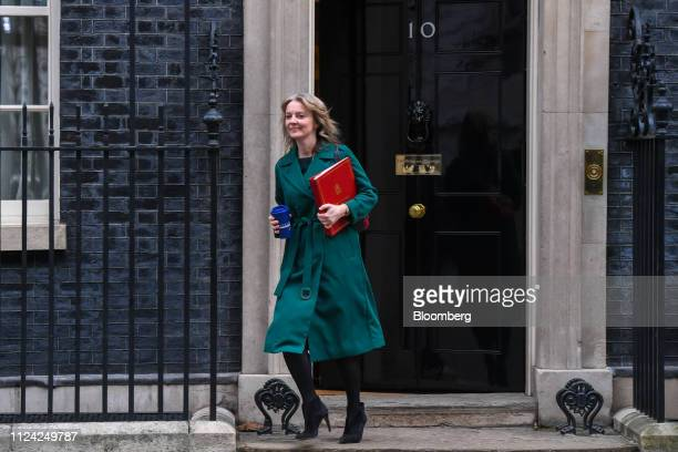 Liz Truss UK chief secretary to the treasury departs number 10 Downing Street following a weekly meeting of Cabinet minsters in London UK on Tuesday...