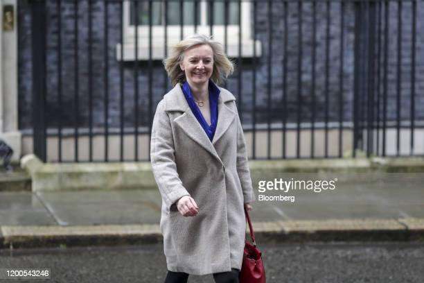 Liz Truss UK international trade secretary departs number 10 Downing Street in London UK on Thursday Feb 13 2020 Boris Johnsonfired a clutch of...