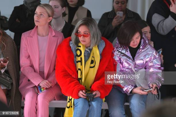 Liz Uy and Laureen Uy attend the alice McCALL fashion show during New York Fashion Week The Shows at Industria Studios on February 10 2018 in New...