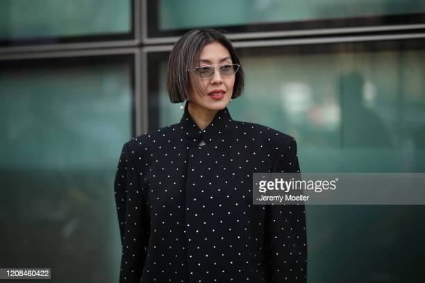 Liz Uy is seen before Emporio Armani during Milan Fashion Week Fall/Winter 2020-2021 on February 21, 2020 in Milan, Italy.